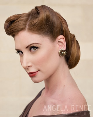 Their vintage updos are simply fabulous They even host vintage pinup photo